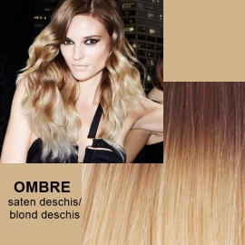 Cozi de Par Diamond OMBRE Saten Deschis / Blond Deschis