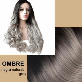 Extensii tape in  OMBRE Negru Natural / Grey
