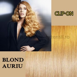 Clip-on Blond Auriu