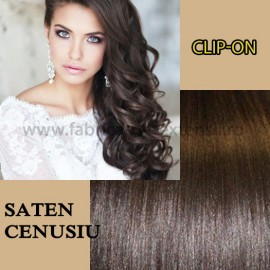 Clip-On Saten Natural Cenusiu