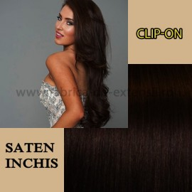 Clip-on Saten Inchis