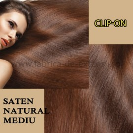 Clip-on Saten Natural Mediu