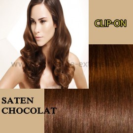 Clip-on Saten Chocolat