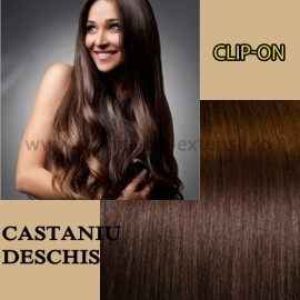 Clip-On Castaniu Deschis