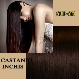 Clip-On Castaniu Inchis