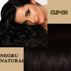 Clip-On Negru Natural