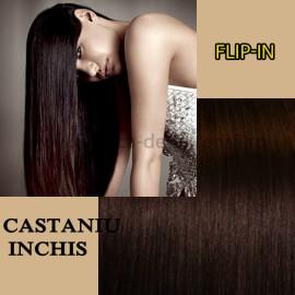 Flip In Castaniu Inchis