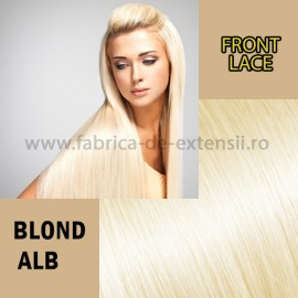 Front Lace Blond Alb