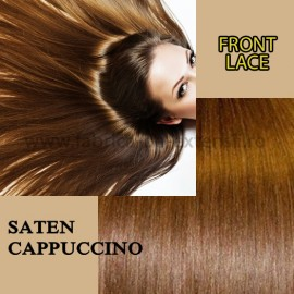 Front Lace Saten Cappuccino