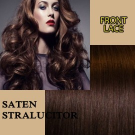 Front Lace Saten Stralucitor