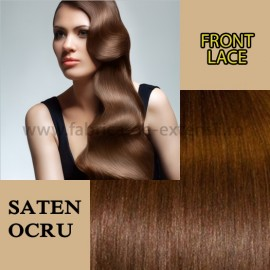 Front Lace Saten Ocru