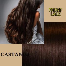 Front Lace Castaniu Simplu