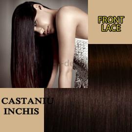 Front Lace Castaniu Inchis