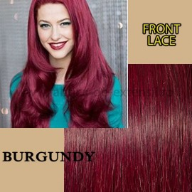 Front Lace Burgundy