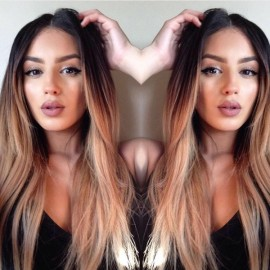 Peruca Par Natural Ombre Saten Inchis Blond Natural Ultra Remy