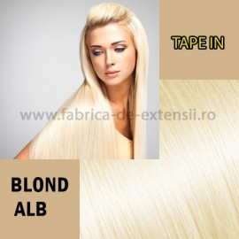 Extensii Tape In Blond Alb