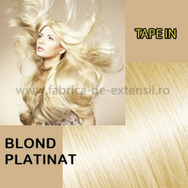 Extensii Tape In Blond Platinat