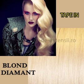 Extensii Tape In Blond Diamant