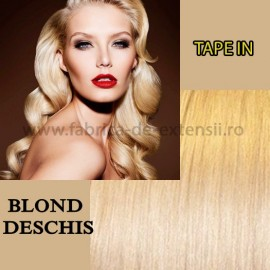 Extensii Tape In Blond Deschis