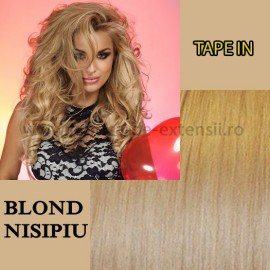 Extensii Tape In Blond Nisipiu