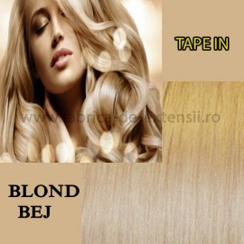 Extensii Tape In Blond Bej