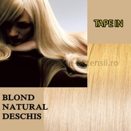 Extensii Tape In Blond Natural Deschis