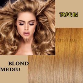 Extensii Tape In Blond Mediu