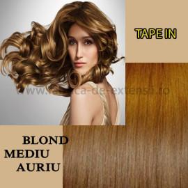 Extensii Tape In Blond Mediu Auriu