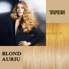 Extensii Tape In Blond Auriu