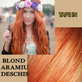 Extensii Tape In Blond Aramiu Deschis