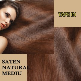 Extensii Tape In Saten Natural Mediu