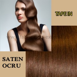 Extensii Tape In Saten Ocru
