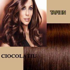 Extensii Tape In Ciocolatiu