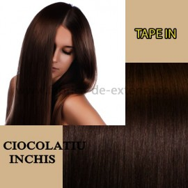 Extensii Tape In Ciocolatiu Inchis