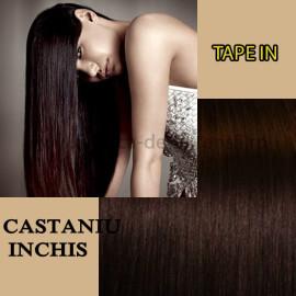 Extensii Tape In Castaniu Inchis
