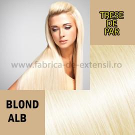 Trese de Par Blond Alb