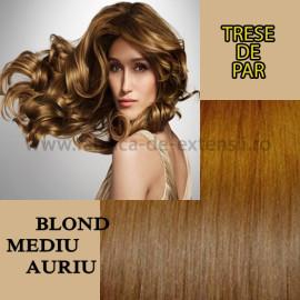 Trese De Par Blond Mediu Auriu