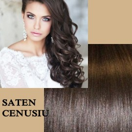 Clip-On Deluxe Saten Natural Cenusiu