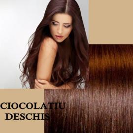 Clip-on Deluxe Ciocolatiu Deschis