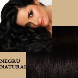 Clip-On Deluxe Negru Natural