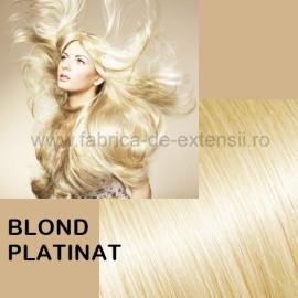 Extensii La Metru DeLuxe Blond Platinat