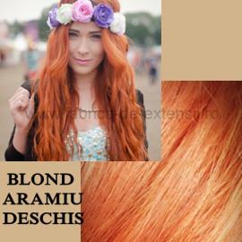 Extensii La Metru DeLuxe Blond Aramiu Deschis