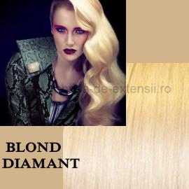 Extensii Nanoring Deluxe Blond Diamant
