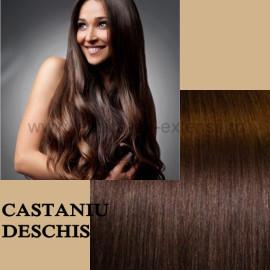 Set Easy Clip-On Deluxe Castaniu Deschis