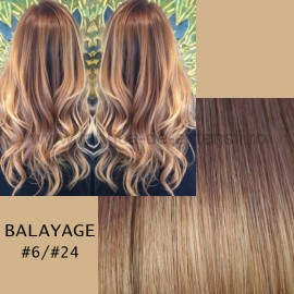 Set Easy Clip-On Deluxe Balayage #6/#24