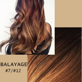 Set Easy Clip-On Deluxe Balayage #7/#12