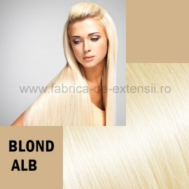 Extensii Tape IN DeLuxe Blond Alb