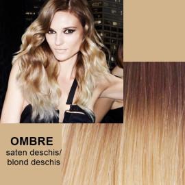 Extensii Front Lace (Semiperuca) DeLuxe Ombre Saten Deschis Blond Foarte Deschis