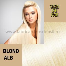 Cozi de Par Blond Alb