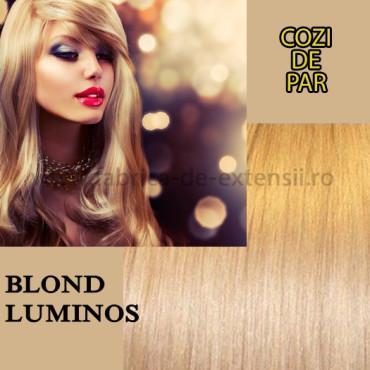 Cozi de Par cu Dubla Intrebuintare Blond Luminos